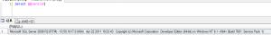 SQLServerのバージョンとかエディションとかを調べる