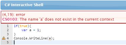 javascriptにはブロックスコープがない_C#の場合